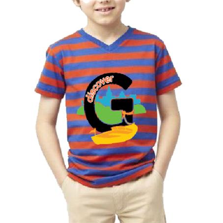 AHDSVK15 - Kids V-Neck T-Shirt w/ Edge to Edge Sublimation Tshirts
