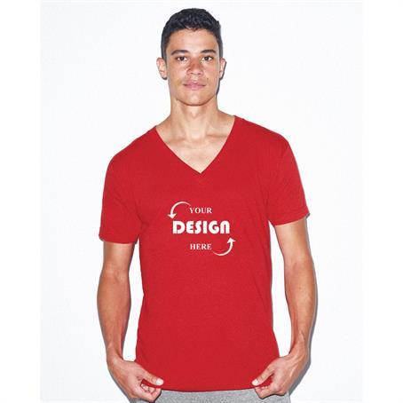 AT2456C - American Apparel Full Color V-Neck T Shirt