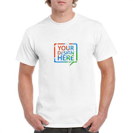 AT5000LW - White Gildan 5.3 Oz 100% Preshrunk Cotton T-Shirt