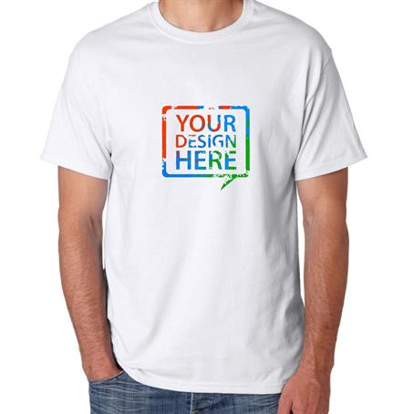 AT5280WFC - Hanes Heaveyweight Full Color White Tees