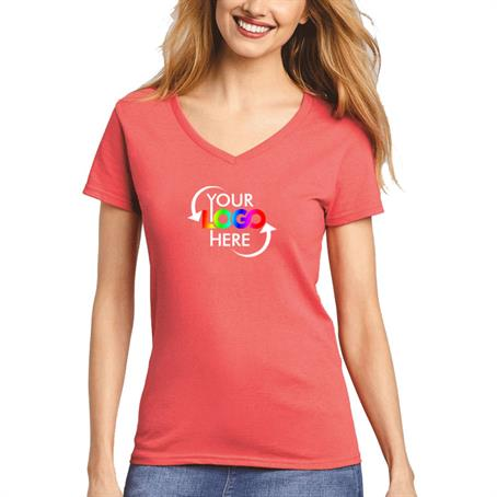 AW5V00LC - Gildan Full Color V-Neck Women'S Cotton T Shirt