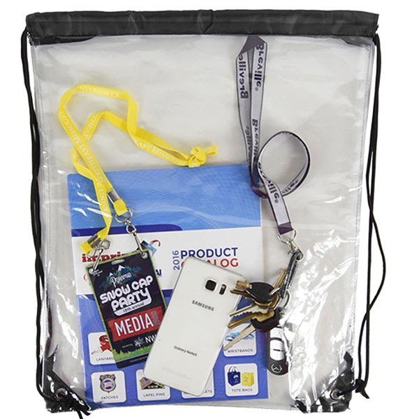 BG-DB15 - Clear Drawstring Bag