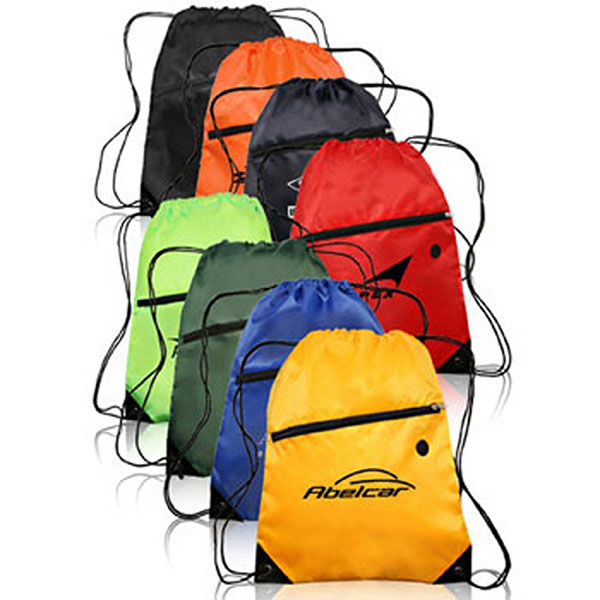 BG-DB23 - Sports Drawstring Bag with Front Zipper