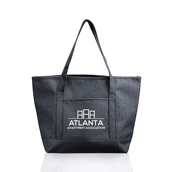 BG-BP103 - Pocket Heathered Tote Bags