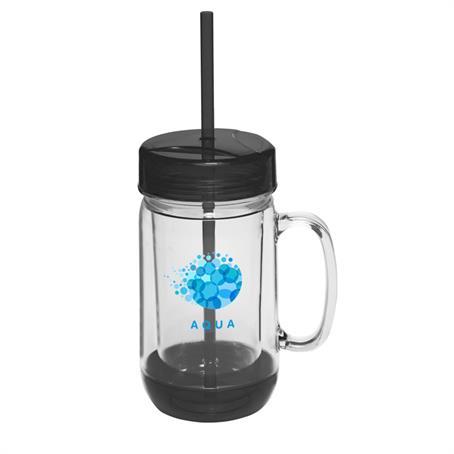 BP134 - 26 oz. Accent Color Mason Jar Mugs