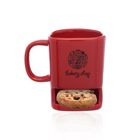 BPM8009 - 7 oz. Poppy Cookie Holder Custom Mugs