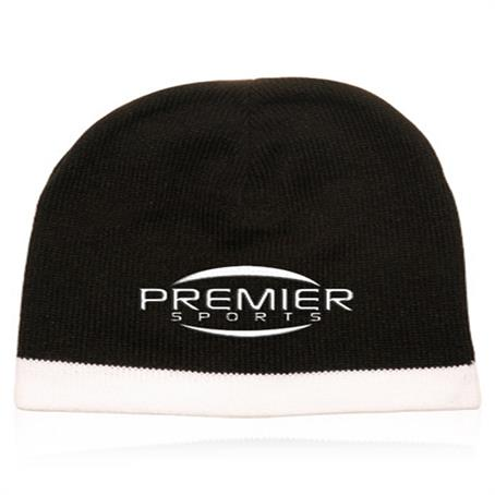 BP-ACAP59 - Acrylic Knit Beanie W/ Accent Trim