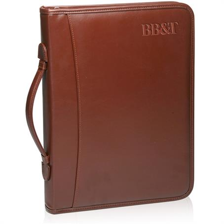 BP-APF46 - Brown Leather Binder Portfolios
