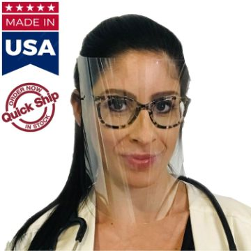 FSUS02 - Reusable Face Shield w/ Adjustable Headband Safety Shields