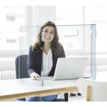 "GL-DSU2412H - 23.5"" X 23.5"" Portable 3-Panel Desk Shield"