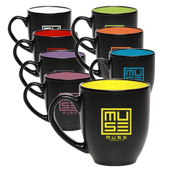 DMUG197 - 16 Oz Two Tone Bistro Ceramic Mug