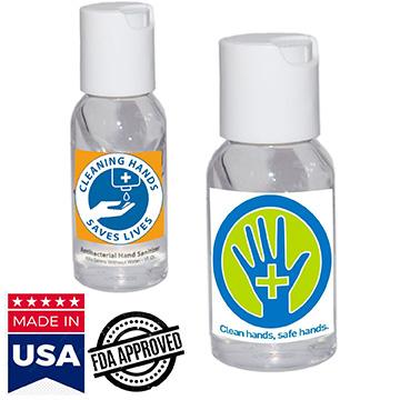 IHSBUS110 - 1 Oz. USA Made Hand Sanitizer Gel Bottle Antibacterial