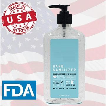HSBVA18 - 18 oz large USA Made Hand Sanitizer Antibacterial Gel