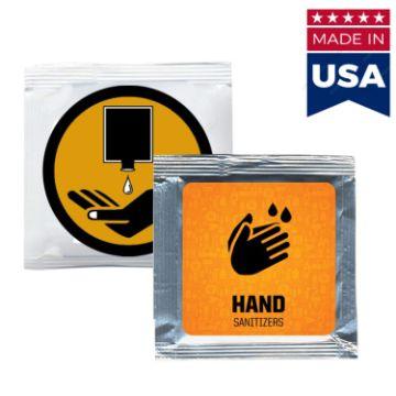 HSPUS430 - USA Made Hand Sanitizer Gel Pouch w/ Large Custom Imprint