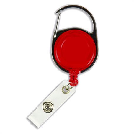 ID-CBR103BL - Transparent Blank Carabiner Badge Reel
