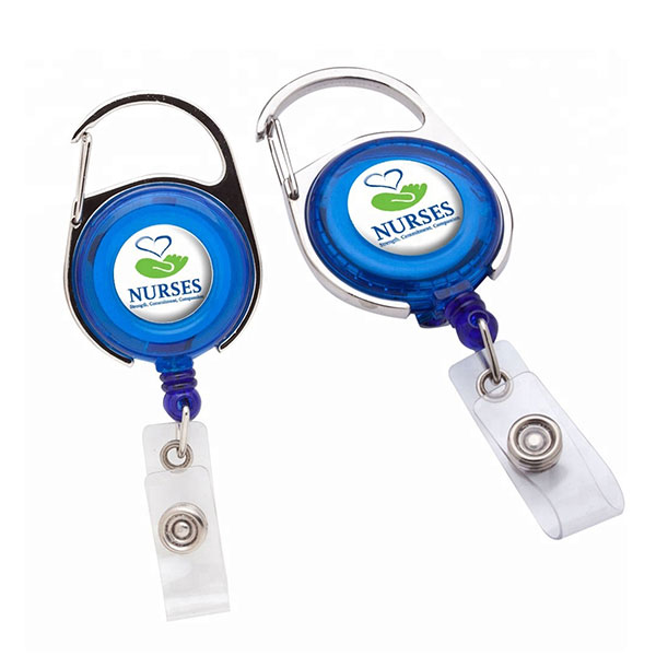 ID-CBR101 - Transparent Carabiner Badge Reels