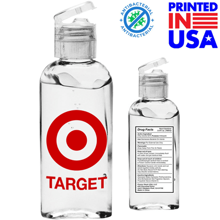 IHSUS005 - USA Printed 3.4 oz. Hand Sanitizer Gel w/ Custom Logo & Flip Cap