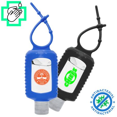 IHSUS017 - USA Printed 2 Oz. Gel Hand Sanitizers w/ Silicone Carabiner USA Printed