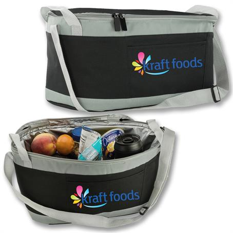 ILBUS33 - Large Insulated Picnic Lunch Box w/ Front Pocket & Handles