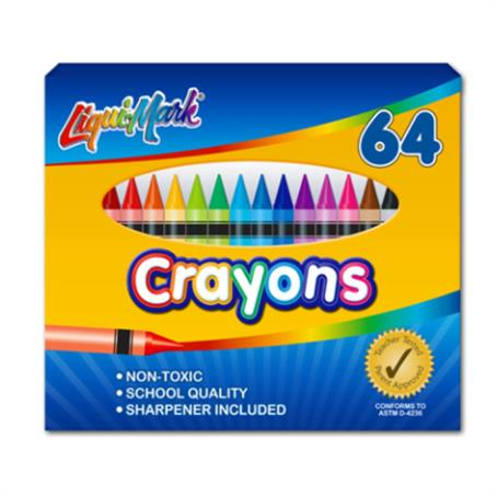 IL-86649 - Set of 64 Crayons With Sharpener