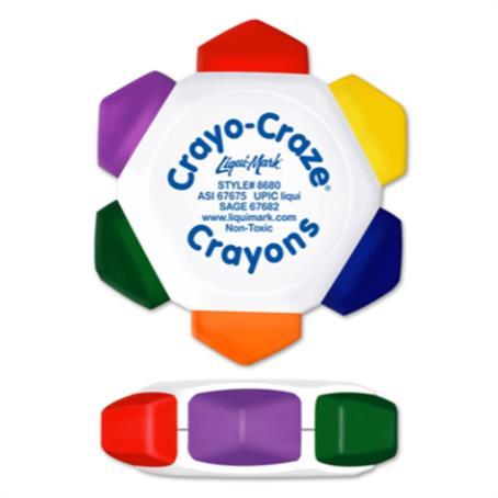 IL-868000 - White Craze 6 Color Crayon Wheen