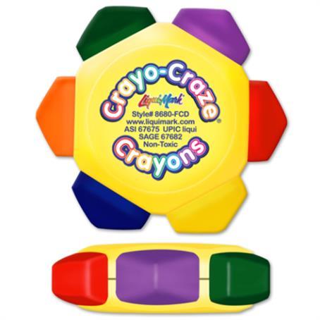 IL-868008FCD - Full Color Craze 6 Color Crayon Wheel