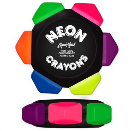 IL-868091 - Black Craze Neon 6 Color Crayon Wheel