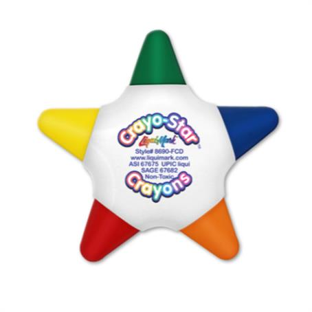 IL-8690FCD - Full Color Star 5 Color Crayon
