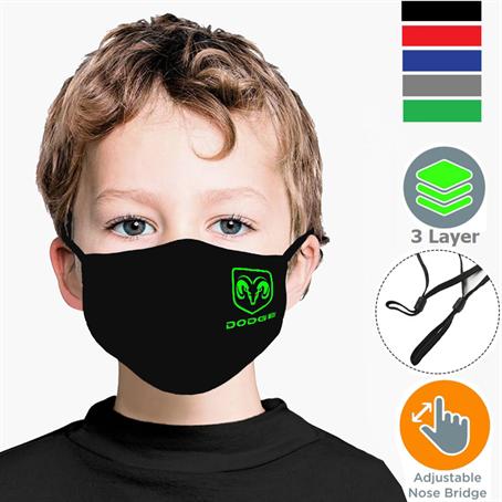 IM3LPSCK - Kids Face Masks 3 layers w/ filter pocket, Nose Bridge