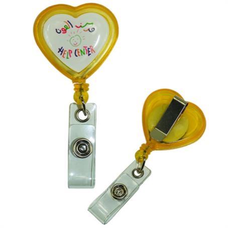 IM-BHT01 - Heart Shaped Retractable Badge Reel