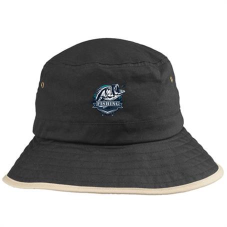 IM-CPFL71US - Foldable Cotton Bucket Hats