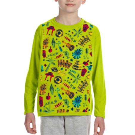 AFDSRY36 - Long Sleeve Youth Round Neck T-Shirts W/ Dye-Sublimation