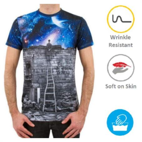 IM-HDSRM17 - Men'S Round Neck T-Shirt W/Edge To Edge Sublimation Tshirts