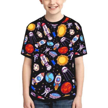 AHDSRY16 - Youth Round Neck T-Shirts W/ Edge To Edge Sublimation Tshirt
