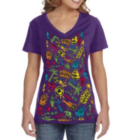 AHDSVW18 - Women's V-Neck T-Shirts w/ Edge to Edge Sublimation Tshirts