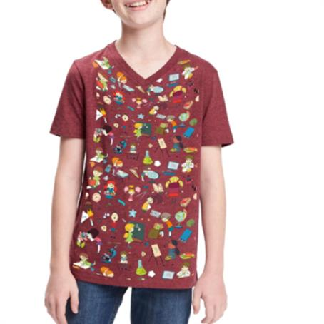 AHDSVY16 - Youth V-Neck T-Shirts W/ Edge To Edge Sublimation Tshirts