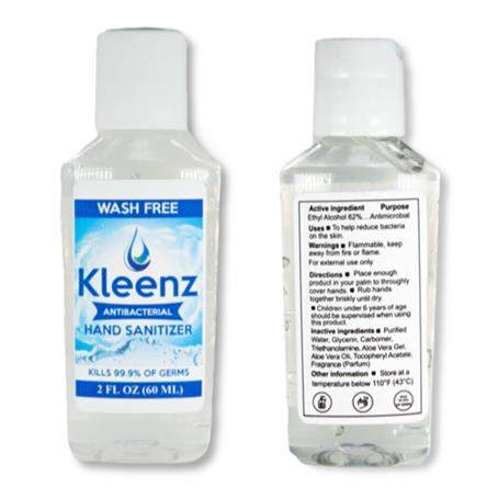 IHSBVA02 - IN STOCK USA MADE 60 ml Hand Sanitizer FDA Approved 2 oz