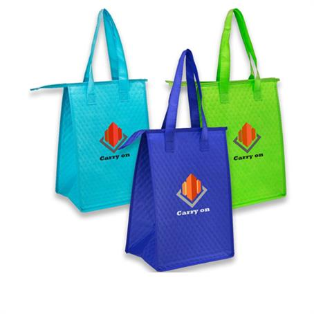 ILBUS244 - Zipper Insulated Lunch Tote Bags
