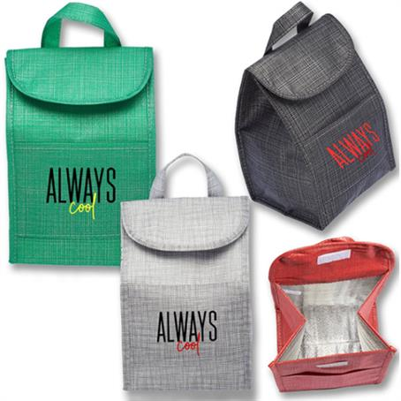 IM-LBUS36 - Economy Shimmer Lunch Bags W/ Velcro Closure & Handle