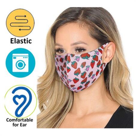 IM-MSK1EC - Economy Safety Face Mask w/ Full Color Imprint Elastic Masks