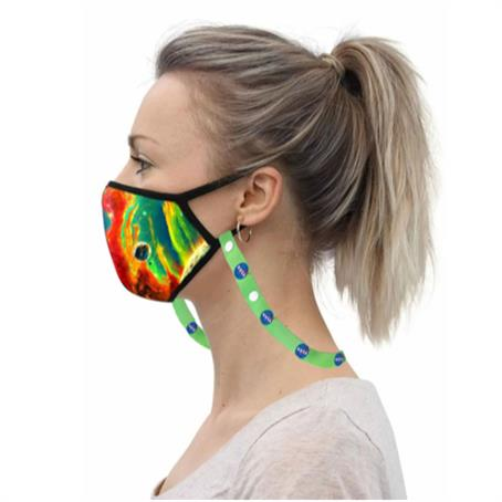 IM-MSK3LC - 3 Layer Safety Face Mask Lanyard Combo w/ Full Color Imprint