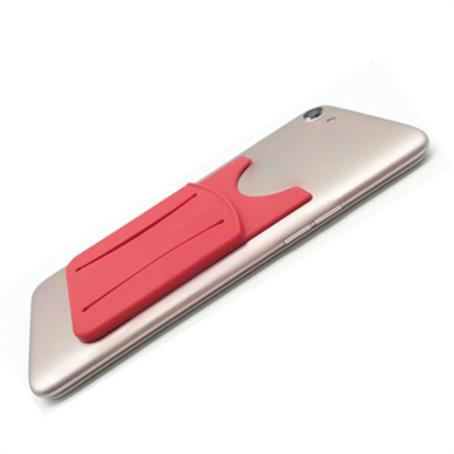 IM-PWFS18 - Silicone Phone Wallet With Finger Slot