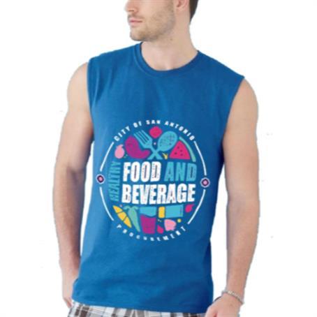 ASDSRM77 - Men's Round Neck Sleeveless T-Shirt w/ Edge to Edge Sublimation Tanks