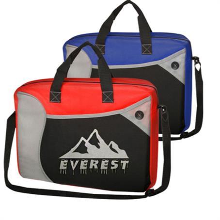 ITLB29US - Economy Briefcase Messenger Bags W/ Shoulder Strap & Zipper