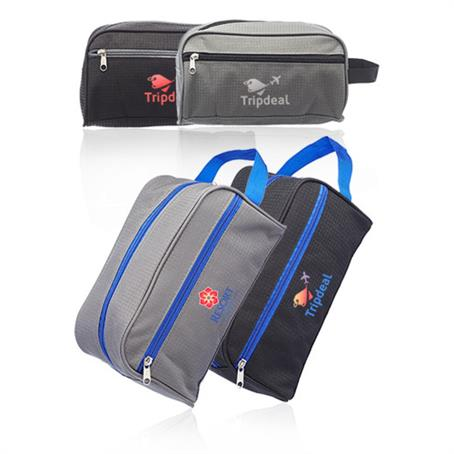 ITLBUS02 - Travel Two Tone Toiletry Bags with Handle