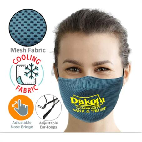 IMCM3SP - 3-Layer Cooling Face Mask W/Screen Print Antibacterial Masks