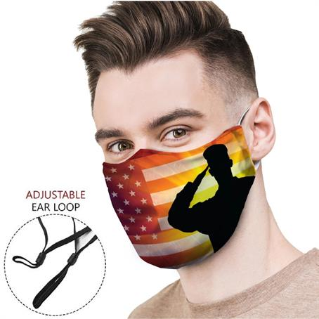 MSCD15 - Adjustable Face Mask, Full Color Cloth Safety Masks 4 Layer