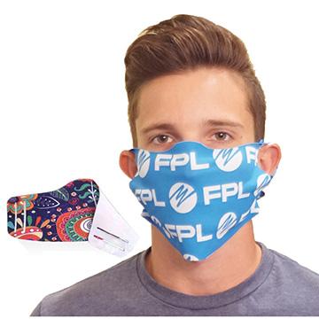 MSK27NS - No-Sew Face Mask w/ Full Color Imprint Washable Safety Masks