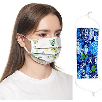 MSK2L - 2 Layer Cotton Face Mask W/ Full Color Imprint & Adjuster