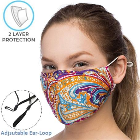 MSK2LNP - 2-Layer Safety Face Mask w/Custom Logo & Adjustable Ear Loop
